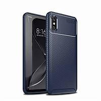 Чехол Carbon Case Xiaomi Mi 8 Pro Синий