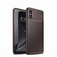 Чехол Carbon Case Xiaomi Mi 8 Pro Коричневый