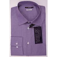 Рубашка VELS 2313-8 кл. S темно-фиолет.в мелк.полосу