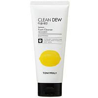 TONY MOLY CLEAN DEW FOAM CLEANSER Нежная пенка для лица с экстрактом лимона, 180 мл