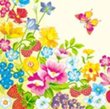 Серветка Марго 33*33 3сл. Літні квіти