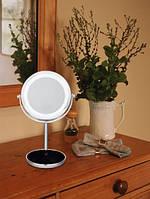 Косметическое двойное зеркало с подсветкой, фото 1