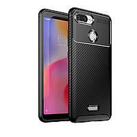Чехол Carbon Case Xiaomi Redmi 6 Черный