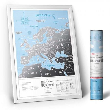 Скретч карта Европы Europe