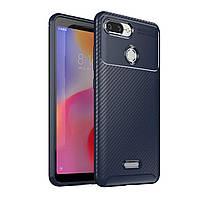 Чехол Carbon Case Xiaomi Redmi 6 Синий