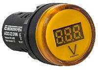 Сигнальна арм Вольтметр AD22-22DVM 220V жовт.