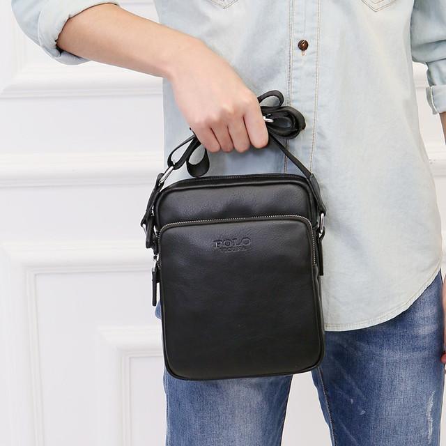 265516a5304c Купить Мужская сумка мессенджер, барсетка через плечо V8850 черная в ...