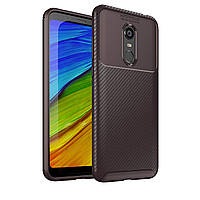 Чохол Carbon Case Xiaomi Redmi 5 Plus Коричневий