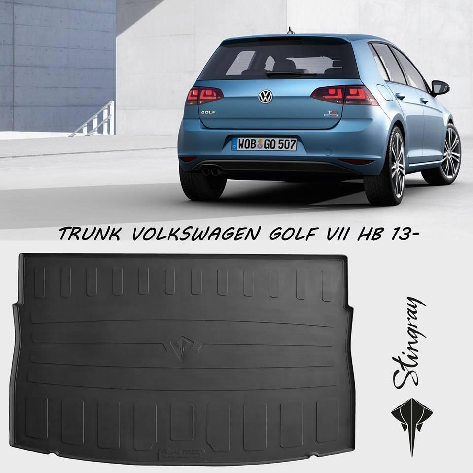 Килимок багажника Volkswagen Golf VII HB 2013- (верхній багажник) Stingray
