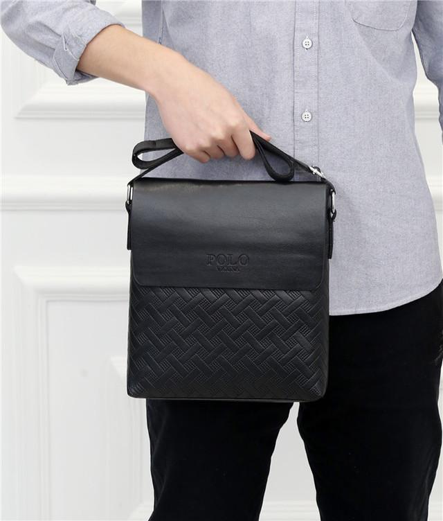 Мужская сумка мессенджер, барсетка через плечо POLO VICUNA V8853 черная
