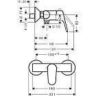 Однорычажный латунный смеситель для душа цвет хром Hansgrohe Focus Е2 31960000, фото 2