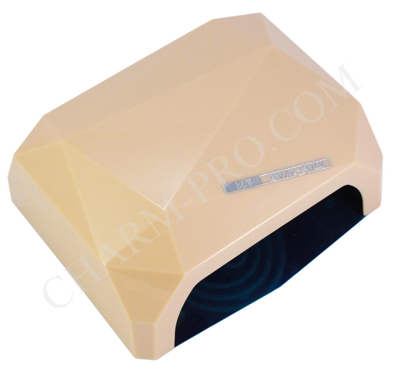 Комбинированная лампа для маникюра LED+CCFL Diamond (Бежевая)