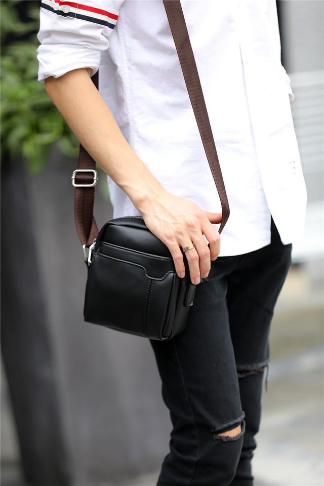 Мужская сумка мессенджер, барсетка через плечо POLO VICUNA V9839 черная