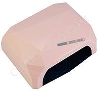 LED+CCFL лампа для маникюра Diamond (Розовая)