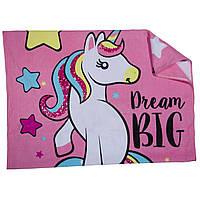 Махровое полотенце Единорог для девочек 80х160 см ТМ ARDITEX Розовый ZK50192