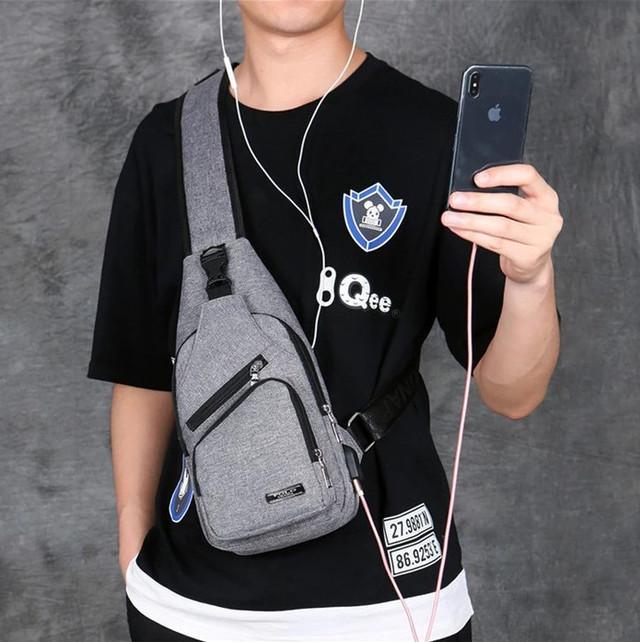 Мужская сумка слинг, кросс боди через плечо POLO VICUNA V9923