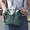 """Женская кожаная сумка """"Тринити Green"""""""