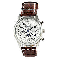 Часы Longines Day Phase Tourbillon 40 mm silver/white/brown. Реплика: AAA.