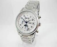 Часы Longines Moonphases Tourbillon 40mm Silver/White. Реплика: AAA.