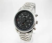 Часы Longines Moonphases Tourbillon 40 mm Silver/Black. Реплика: AAA., фото 1