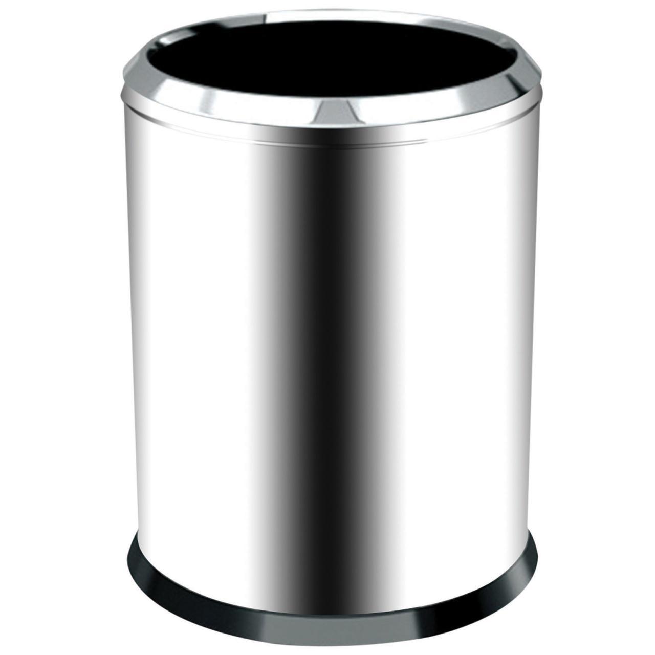Хромированная мусорная корзина 45 л.