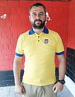 Футболка поло желто-синяя, фото 1