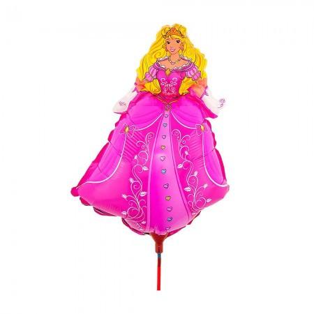 Шарик с палочкой (40см) Принцесса
