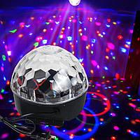 Диско шар с Bluetooth и USB колонкой+пульт MP3 LED magic ball light