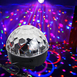 Диско шар с Bluetooth и USB колонкой+пульт MP3 LED magic ball light, фото 2