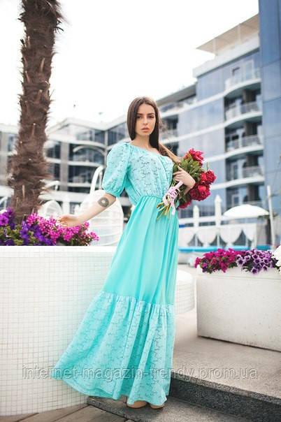 Летнее платье в пол  в трех  расцветках 01273