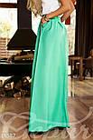 Расклешенная юбка макси с карманами мятная, фото 2