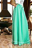 Расклешенная юбка макси с карманами мятная, фото 3
