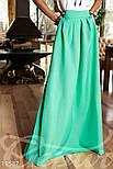Расклешенная юбка макси с карманами мятная, фото 4