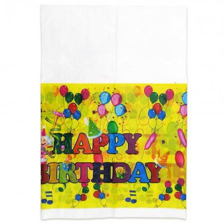 Скатерть Happy Birthday Шарики (желтый), фото 2