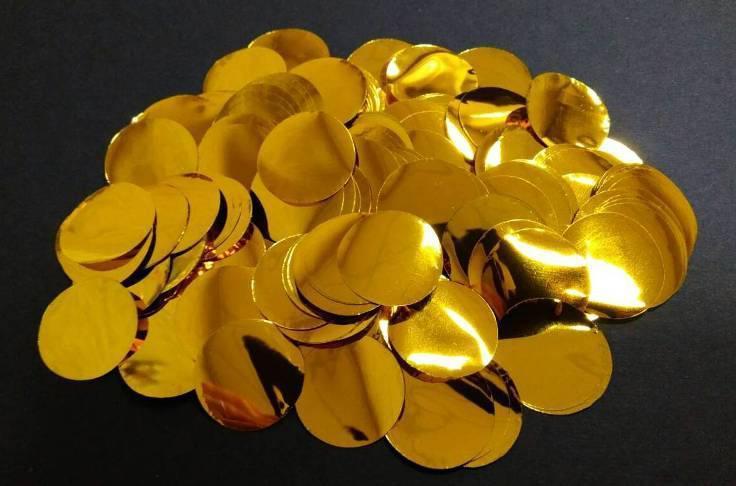 Конфетти кружочки золото 50г