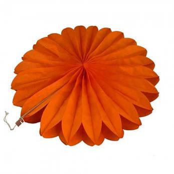 Веерный круг (тишью) 20см (оранжевый 0011), фото 2