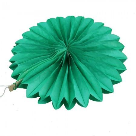 Веерный круг (тишью) 25см (зеленый 0015)