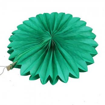 Веерный круг (тишью) 25см (зеленый 0015), фото 2