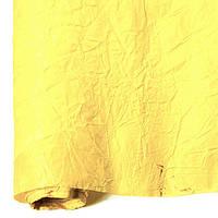 Бумага для упаковки подарков President 70 см 5 м жатая светло-желтая