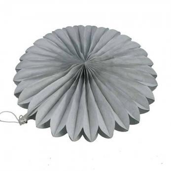 Веерный круг (тишью) 25см (серый 0025), фото 2