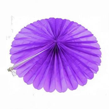 Веерный круг (тишью) 25см (фиолетовый 0021), фото 2