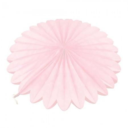Веерный круг (тишью) 30см (розовый 0020)