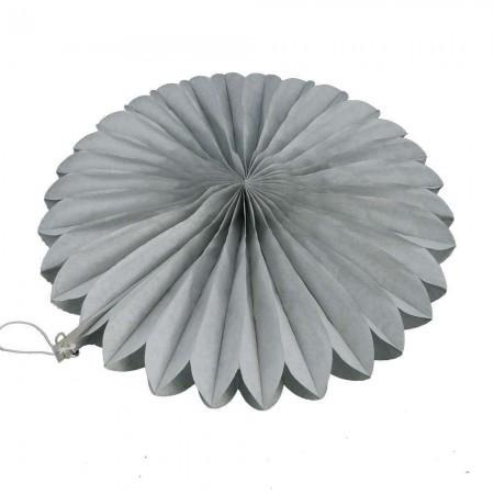 Веерный круг (тишью) 30см (серый 0025)