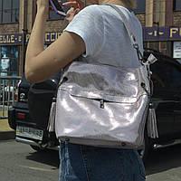 """Женская кожаная сумка с лазерным напылением  """"Электра Bright Pink"""", фото 1"""