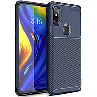 Чехол Carbon Case Xiaomi Mi Mix 3 Синий