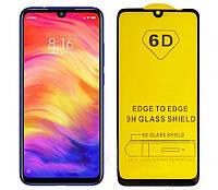 6D Full Glue защитное стекло для XiaomiRedmi Note 7 Black (клеится вся поверхность)