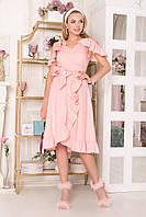 Сукня 143 з бавовни 44-52 персик, фото 1