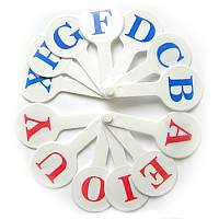 Веер для обучения английских букв, 0004