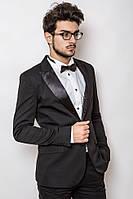 Смокинг мужской приталенный 2413 стильный черный (пиджаки молодежные)