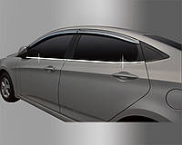 Hyundai Accent 2011- Нижний молдинг стекла 4шт